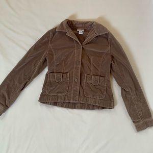 Ann Taylor LOFT Suede khaki tan jacket